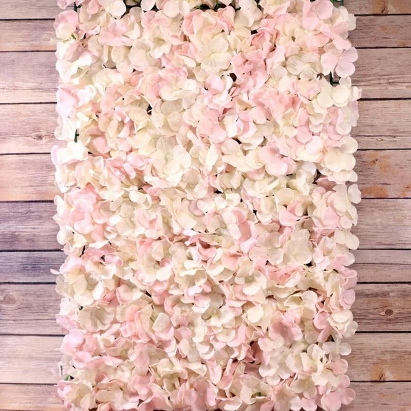 Pink And Cream Hydrangea Flower Wall Panel 40x60cm